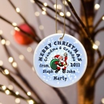 JDS Personalized Ornaments: Merry Christmas