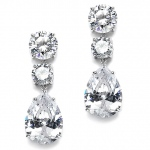 Mariell Bold Shape Cubic Zirconia Wedding Or Party Earrings