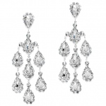Mariell Dramatic Crystal Rhinestone Chandelier Earrings