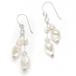 Mariell Genuine Freshwater Pearls & Crystals Beach Wedding Earrings