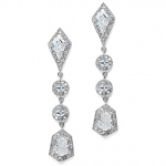 Mariell Empress & Noble Cut Cubic Zirconia Bridal Earrings