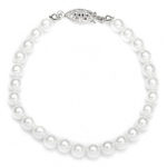 Mariell Single Strand 6mm Pearl Wedding Bracelet