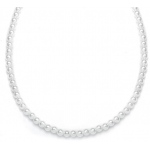 Mariell Single Strand 6mm Pearl Wedding Necklace