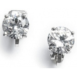 Mariell Clip-On Earrings with 8mm CZ Solitaire