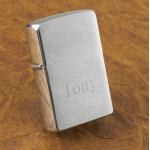 JDS Personalized Zippo Lighter: Brushed Chrome