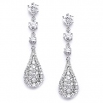 Mariell Cubic Zirconia Prom Or Wedding Dangle Earrings