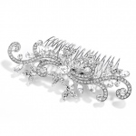 Mariell Popular Wedding Or Prom Hair Comb with Pave Crystal Vines