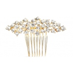 Mariell Best Selling Crystal Clusters Gold Wedding Or Prom Comb