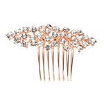 Mariell Best Selling Crystal Clusters Rose Gold Wedding Or Prom Comb