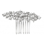 Mariell Best Selling Crystal Clusters Silver Wedding Or Prom Comb