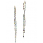 Mariell Popular Dangling AB Rhinestone Prom Earrings with Graceful Twist