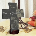 JDS Personalized Cross: Paisley Praise