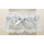 Mariell Hand-Sewn Vintage Lace Wedding Garters: White