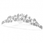 Mariell Crystal Garden Tiara Comb for Proms Or Weddings