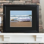 JDS Personalized Print with Wood Frame: Message in A Bottle