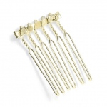 "Mariell Gold Comb Adapter for Brooches: 3/4"" Wide"