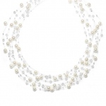 Mariell Lavish 6-Row Pearl & Crystal Bridal Illusion Necklace