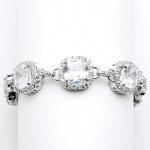 Mariell Magnificent Petite Length Cushion Cut CZ Bridal Or Pageant Bracelet
