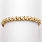 Mariell Elegant Gold Cubic Zirconia Wedding Or Prom Tennis Bracelet