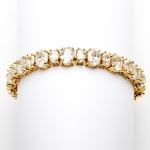 Mariell Spectacular Multi Ovals Gold Cubic Zirconia Wedding Or Pageant Bracelet