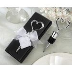 Heart Bottle Stopper in Showcase Display Box
