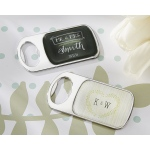 Personalized Bottle Opener with Epoxy Dome: Kate's Rustic Wedding Collection
