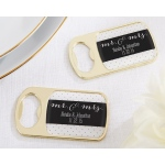 Personalized Gold Bottle Opener with Epoxy Dome: Mr. & Mrs.