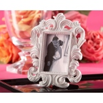 White Baroque, Elegant Place Card Holder, Photo Frame