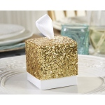 All That Glitters, Gold Glitter Favor Box: Set of 24