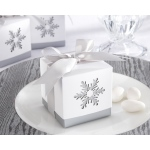 Winter Dreams, Laser-Cut Snowflake Favor Box: Set of 24