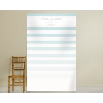 Personalized Photo Backdrop: Beach Tides Stripe