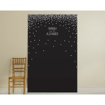 Personalized Black and White Photo Backdrop: Dots