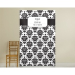 Personalized Damask Photo Backdrop