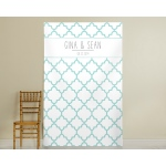 Personalized Aqua Quatrafoil Photo Backdrop