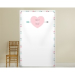 Personalized Heart and Arrow Photo Backdrop