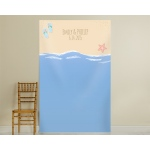 Personalized Beach Photo Backdrop: Flip Flops and Starfish