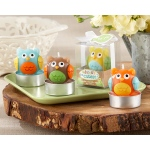 Kate Aspen Whooo's the Cutest Baby Owl Candle: Set of 4