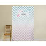 Kate's, Bow or Beau?, Ombre Gender Reveal Personalized Photo Backdrop