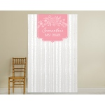 Personalized Photo Booth Backdrop: Kate's Rustic Baby Shower Collection: Trees
