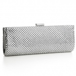 Mariell Chic Silver Mesh Clutch Evening Bag