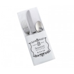 4 White Silverware Holders Vineyard Personalization