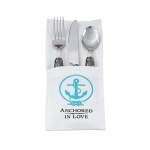 Anchored In Love Coastal Silverware Holders