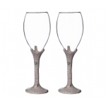 Rustic Birch Wine Glass Set