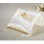 Ivory Diamond Satin Ring Pillow