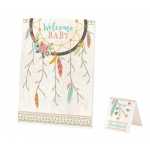 Tribal Baby Shower Guest Signing Canvas
