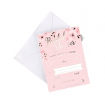 8 Pink & Gold Bridal Shower Invitations