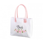 Watercolor Floral Bride Tote Bag