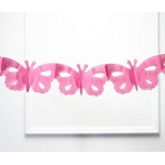 Pink Tissue Paper Butterfly Garland