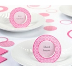 Pink Circle Place Cards