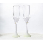 Calla Lily Flower Toasting Glasses
